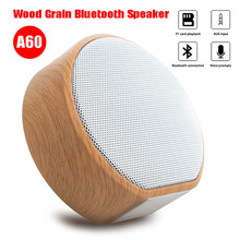 Wireless Bluetooth Wood Grain Speaker Portable Mini Subwoofer Audio Stereo Loudspeaker Support AUX TF Card for iPhone Android цена