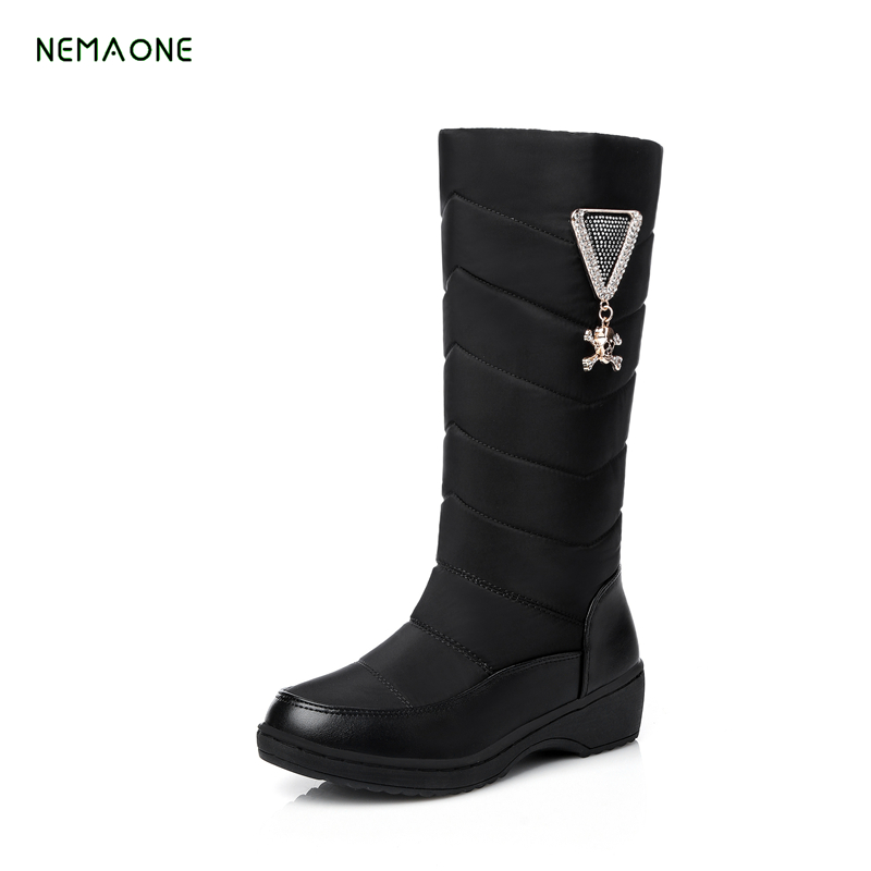 NEMAONE 2017 new fashion Russia keep warm snow boots round toe platform knee high boots winter shoes women boots nemaone 2017 new fashion russia keep warm snow boots round toe platform knee high boots winter shoes women boots