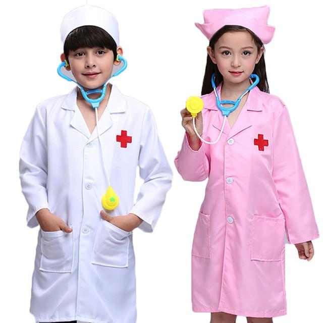 Children Cosplay Clothes White Doctor Uniform Nurse Coats Hospital ...