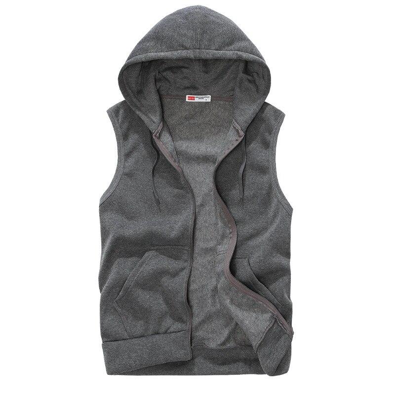 f9f2674b6837d5 Mens Sleeveless Hoodies Fashion Casual Hooded Sweatshirt Men Hip Hop Hoodie  Men s Sportswear High Quality 5 Color Size M XXL -in Hoodies   Sweatshirts  from ...