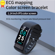 лучшая цена ECG PPG Smart Bracelet Band Blood Pressure Heart Rate Watch Fitness Tracker Wristband for IOS Iphone android xiaomi mi band 4