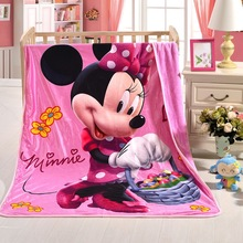 Disney Mickey and Minnie Blanket for kids Thin Quilt Cartoon Bedspread Fleece Throw Blankets