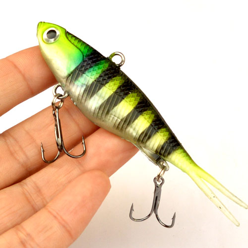 Image 2 - WLDSLURE  Fishing Lures 95mm 20g Soft Vibe Lures Soft Plastics Jig Head Bait-in Fishing Lures from Sports & Entertainment