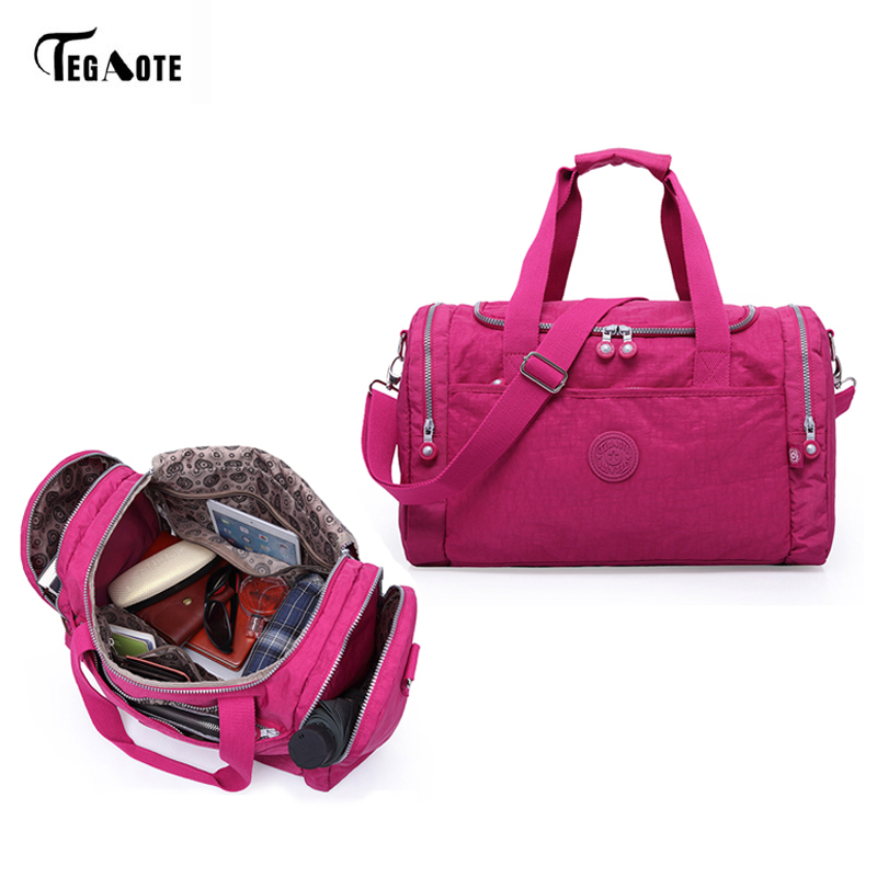 TEGAOTE Women Travel Bags 2017 Fashion Large Capacity Waterproof Luggage Duffle Bag Casual Totes Big Weekend Trip Tourist Bag tegaote newest women travel bags large capacity duffle luggage big casual tote bag nylon waterproof bolsas female handbags