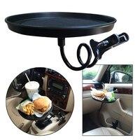 Portable Flexible Car Drink Mount Holder Stand Food Beverage Clip Bracket Tray Desk Universal Car Dining
