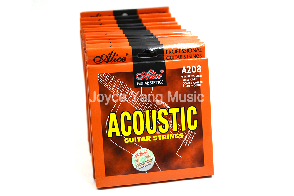 10 Sets of Alice A208 Acoustic Guitar Strings Phosphor Bronze Color Alloy Wound Strings 1st-6th Free Shipping Wholesales