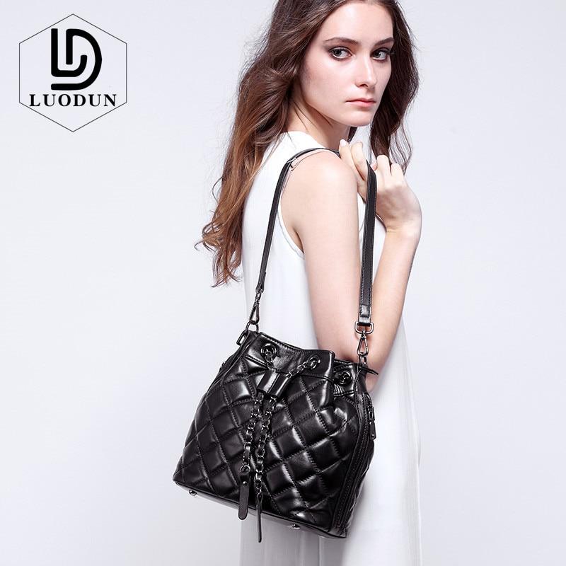 LUODUN New women European and American Fashion Leather Handbag Boston Bag Shoulder Messenger Bag lady Big Tote Sac Bolsos Mujer одежда для отдыха european and american big pm110 2015