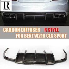 W218 R Stil Karbon Fiber Arka Spoyler W218 CLS350 CLS400 CLS63 ile AMG Paketi 2011-2014 (olamaz fit CLS300)
