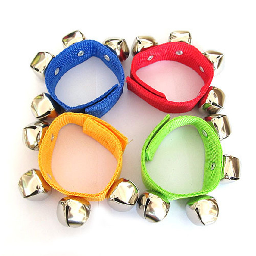 1pc Random Baby Bell Wrist Rattles Educational Toys Baby Handbells Children's Dancing Music Tool Kids Toy