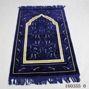 Image 5 - Kalınlaşmak kaşmir müslüman seccadesi High end şönil ibadet halı 110*70cm islam Musallah kilim arap Anti slip mat