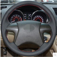 Black Artificial Leather Car Steering Wheel Cover forToyota Highlander 2008 2009 2010 2011 2012 2013 2014 Camry 2007 2011