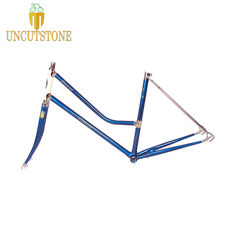 Lady Road Bicycle Frame 4130 Chrome Molybdenum Touring Bike  Frame  49 Cm 51cm  Cruisers Road Bike Frame Customized Color