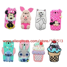 For Samsung Galaxy S3 Case Cover 3D Stitch Unicorn Cupcakes Ice Cream Pig Cat Minnie Owl Judy Hello Kitty Cases For Samsung S3