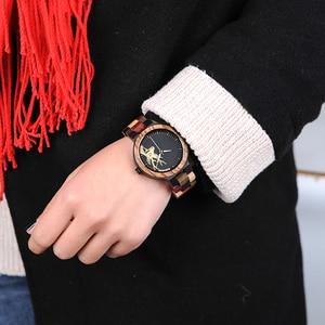 Image 2 - BOBO BIRD Quartz Watch Men reloj mujer Elk Engraving Wooden Women Watches in Wood Box relogio masculino Great Gift for Lover