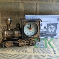 Vintage Train Creative Locomotive Shaped Mini Alarm Clock Wonderful Toy Unique Design Cool Car Model Gift