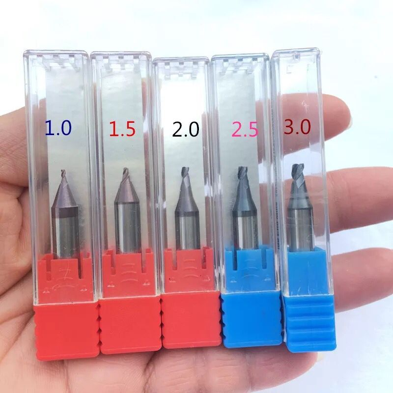 Raise Best Quality Carbide Steel End Milling Cutters For Drill Bits Locksmith Tools 1.0 1.2 1.5 2.0 2.2 2.5 2.7 3.0
