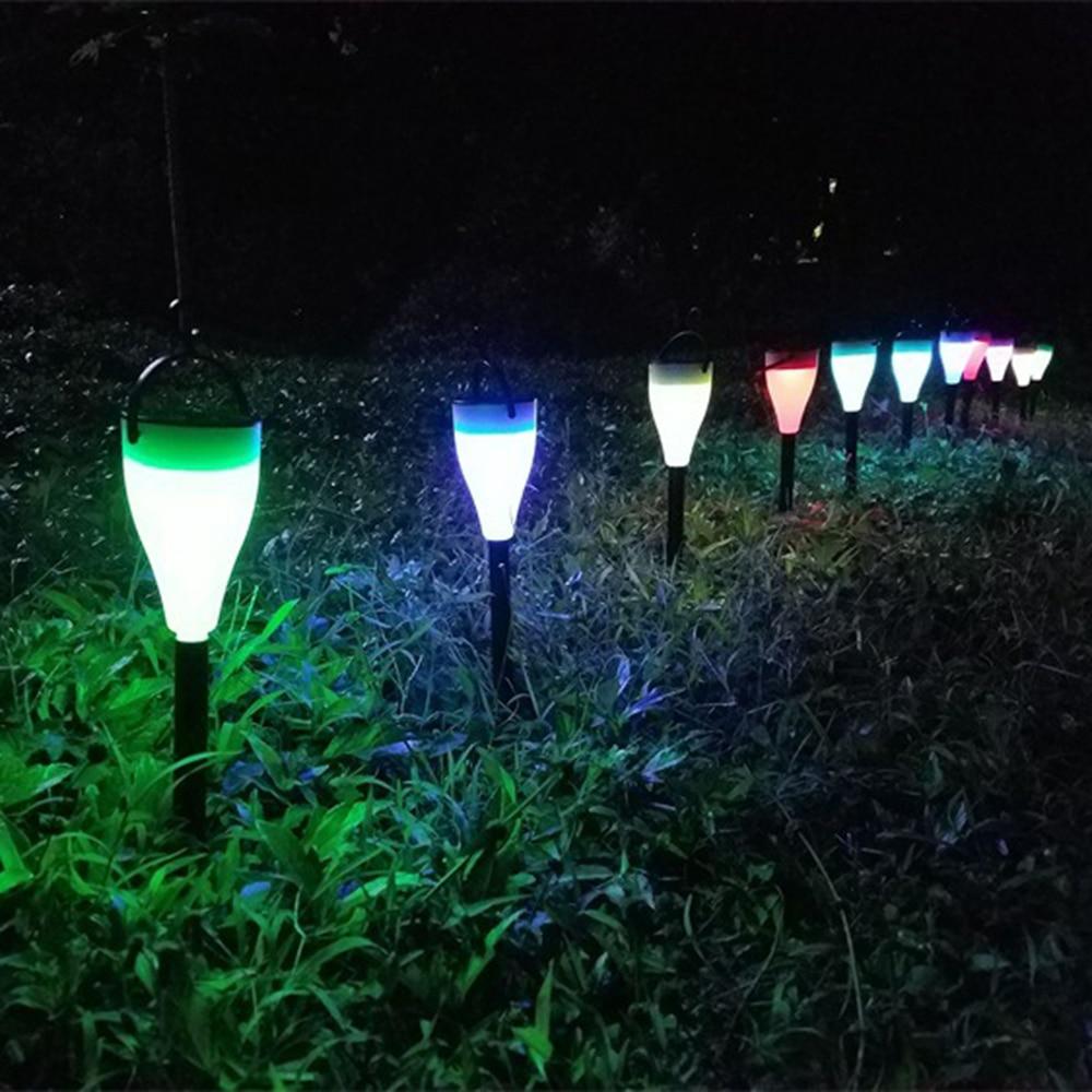 Moderno Conduziu a Iluminação Da Lâmpada Do Gramado Do Jardim Ao Ar Livre Solar À Prova D' Água para Os Caminhos do Ponto Decoração Cottage Quintal Casa