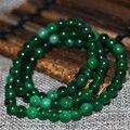 6mm encantos pedra de jaspe verde multilayer rodada beads strand pulseiras para charms mulheres venda quente elegante jóias diy 18 polegadas B2896