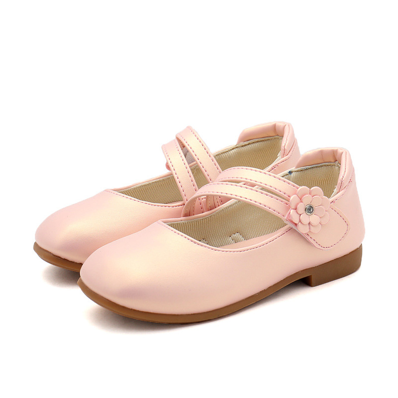 Children Golden Shoes 2019 Autumn Girl Pink Princess Leather Shoes Girls  Party Wedding Shoes black Kids Flat Single Shoes white 21f823bb9ff5