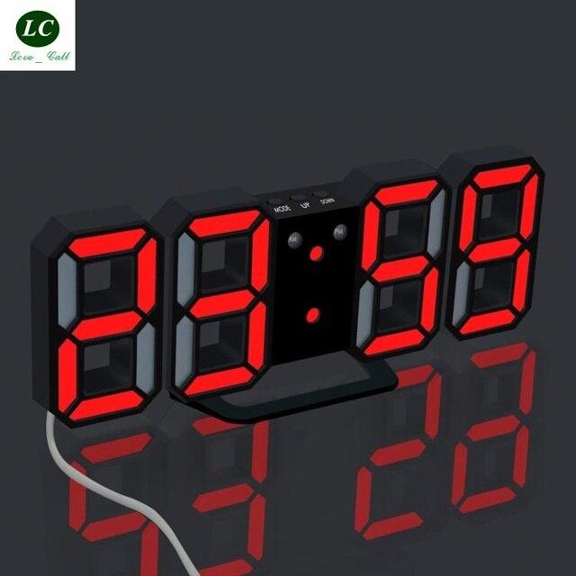US $24 3 19% OFF Desk Table Clock New Night Light Electronic Clock Desktop  digital Alarm clock clock Sitting Room bedroom Digital Clock-in Desk &