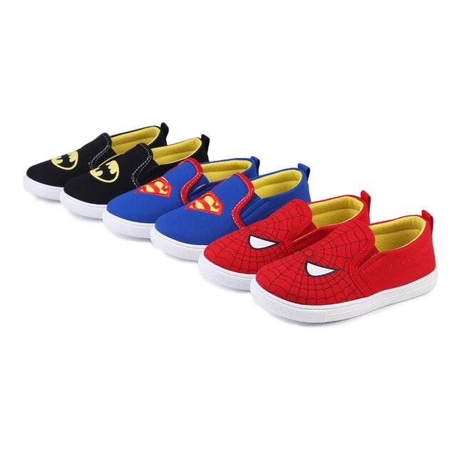 Новые Детские Superman Spiderman Batman обувь для мальчиков и девочек, модная детская кофта из хлопка с подкладкой спортивная обувь рождественские/обувь Размеры 20-31