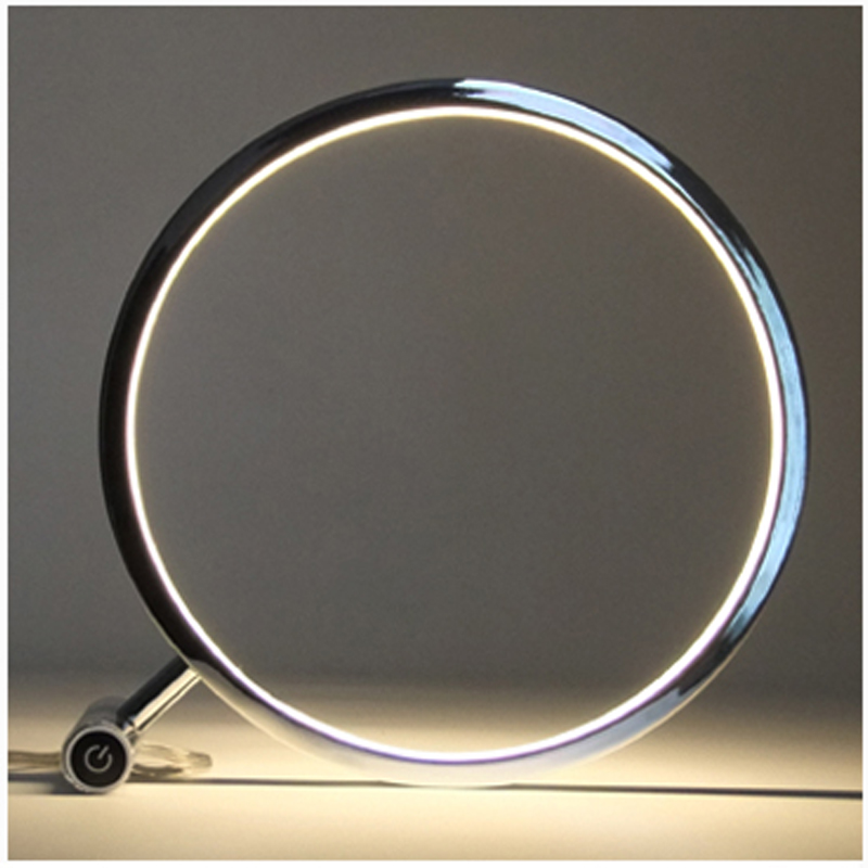 Modern Circular LED Desk Table Lamp Touch Dimmer Aluminum + Acrylic High  Quality Room, Den, Living Room, Office Desk Lamp In Desk Lamps From Lights  ...