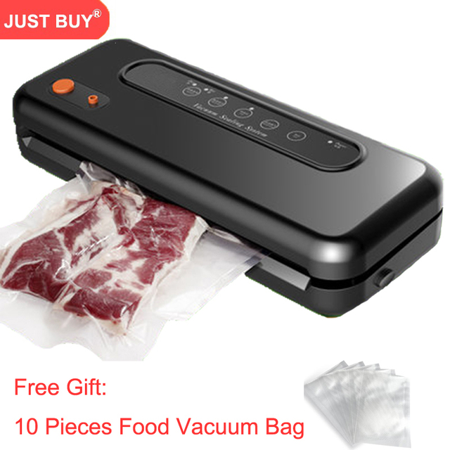 Automatische Vacuüm Sealer Packer Vacuüm Air Afdichting Verpakkingsmachine Voor Voedsel Behoud Droog, Nat, zacht Voedsel met Gratis 10 stuks Zakken