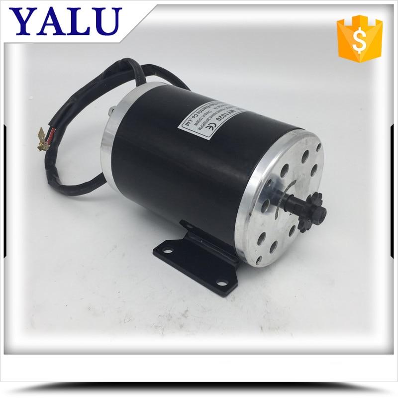 все цены на China high speed electric car motor MY1020 1000W 36V or 48V or 60V Permanent Magnet DC Motor онлайн