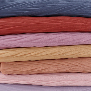 Image 2 - Long Scarf Muslim Headscarf Headband Wrinkles Solid Color Quality Scarf Solid Color Womens Cotton Wrinkles Wrap Bubble Shawl