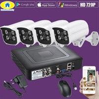 Golden Security 4CH CCTV System 720P AHD CCTV DVR Kit 4PCS 1 0 MP IR Outdoor