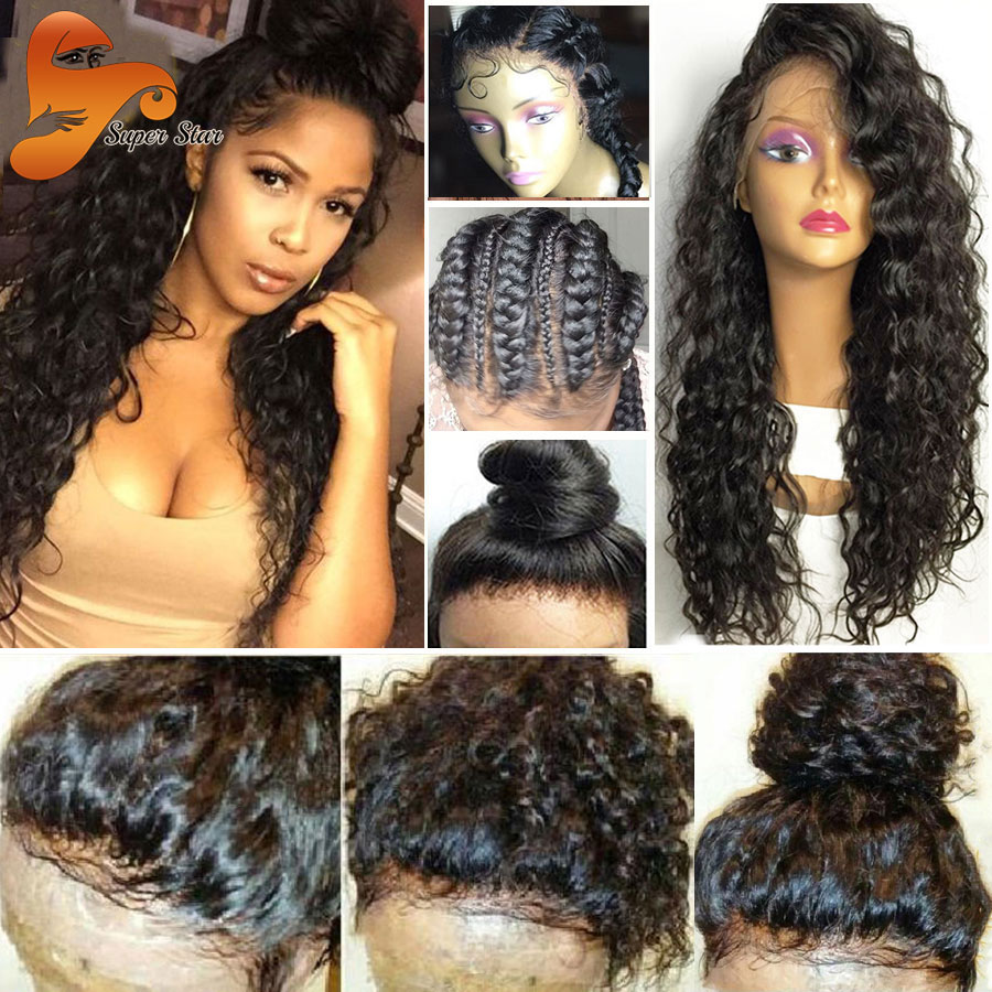 8A Brazilian Full Lace Human Hair Wigs With Baby Hair Pre
