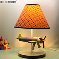 2016 new Creative lovely wooden aircraft children's room desk lamp art bed decorative led lamp