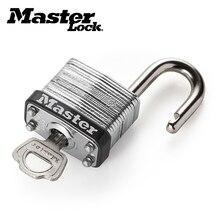 все цены на Master Lock Wide Laminated Steel Warded Padlock Outdoor Anti-theft Bag Lock,Waterproof,No gallbladder layer Home Dormitory Lock онлайн