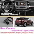 Para Toyota Highlander/Kluger (XU50)/RCA & Tela Original Compatível/Conjuntos de Câmera de Visão Traseira Do Carro/HD de Volta Até Câmera Reversa