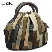 Cardamom Genuine Leather Vintage Patchwork Handbags Women Messenger Bags Lady S Crossbody Bag Shoulder Bags Woman
