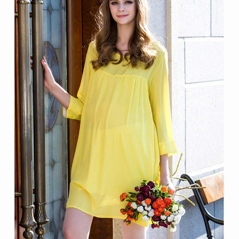 e5d727804cb2d Maternity Nursing Dress For Pregnant Women Clothing 2016 Summer Fashion  Chiffon Breastfeeding Skirt Pregnancy Clothes Lactation-in Dresses from  Mother ...