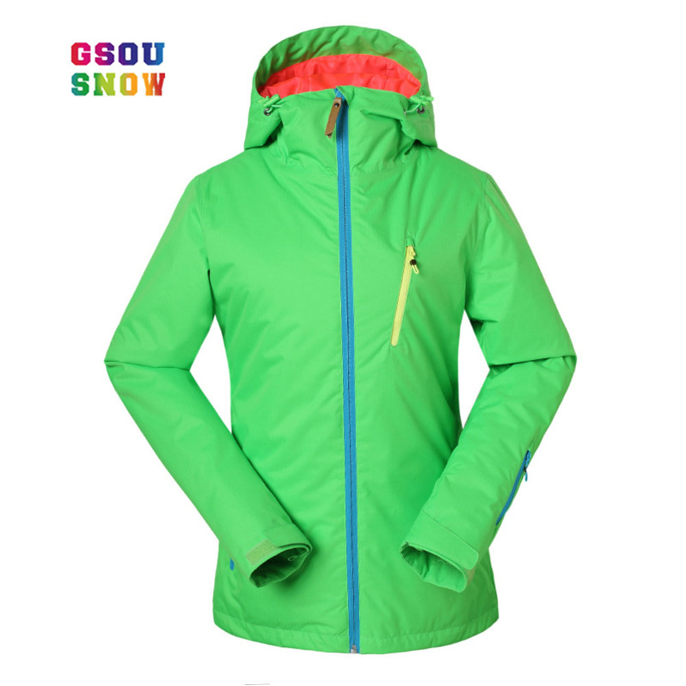 GSOU SNOW Ski Jacket Women Thicken Warmth Winter Snowboard Jacket Windproof Skiing Snow Coats Female Waterproof Ski Clothes
