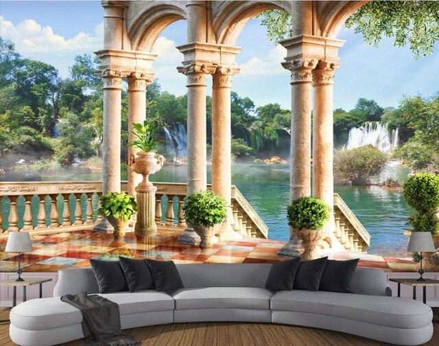 Europäischen Natur Landschaft Wand Papers Home Decor 3d Wohnzimmer  Hintergrund Wand Tapete Für Wände 3 D