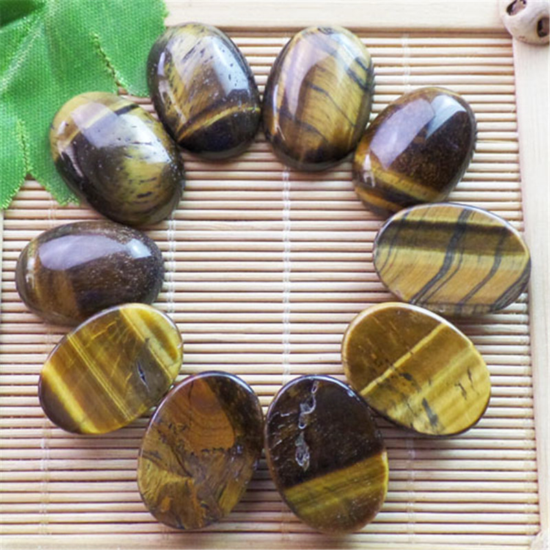 (10 pieces/lot) Wholesale Natural Tiger Eye Gem Oval CAB CABOCHON 25x18x8mm Free Shipping Fashion Jewelry ZY3405