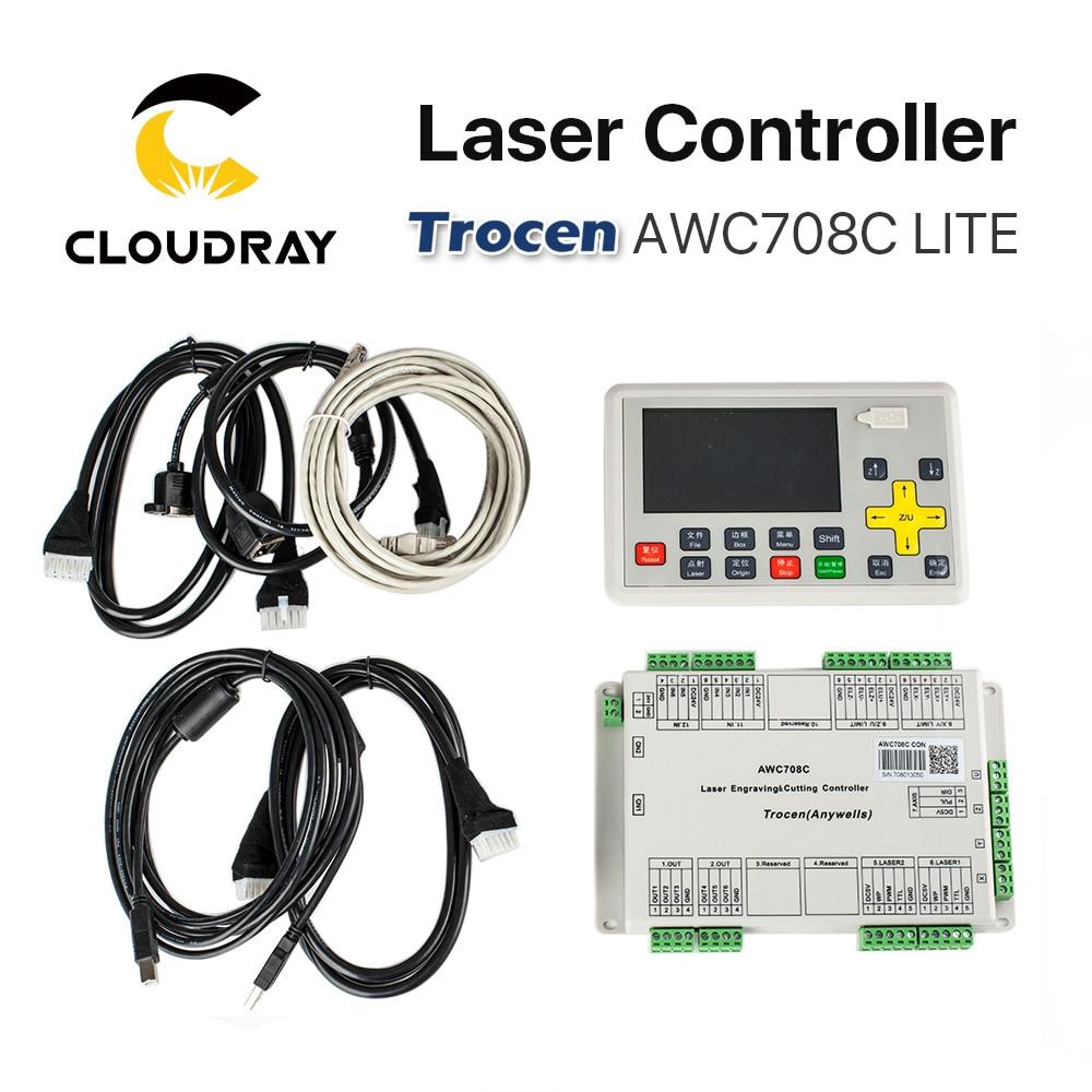 Cloudray Trocen Anywells AWC708C LITE Co2 laserkontrolleri süsteem - Puidutöötlemismasinate varuosad - Foto 6