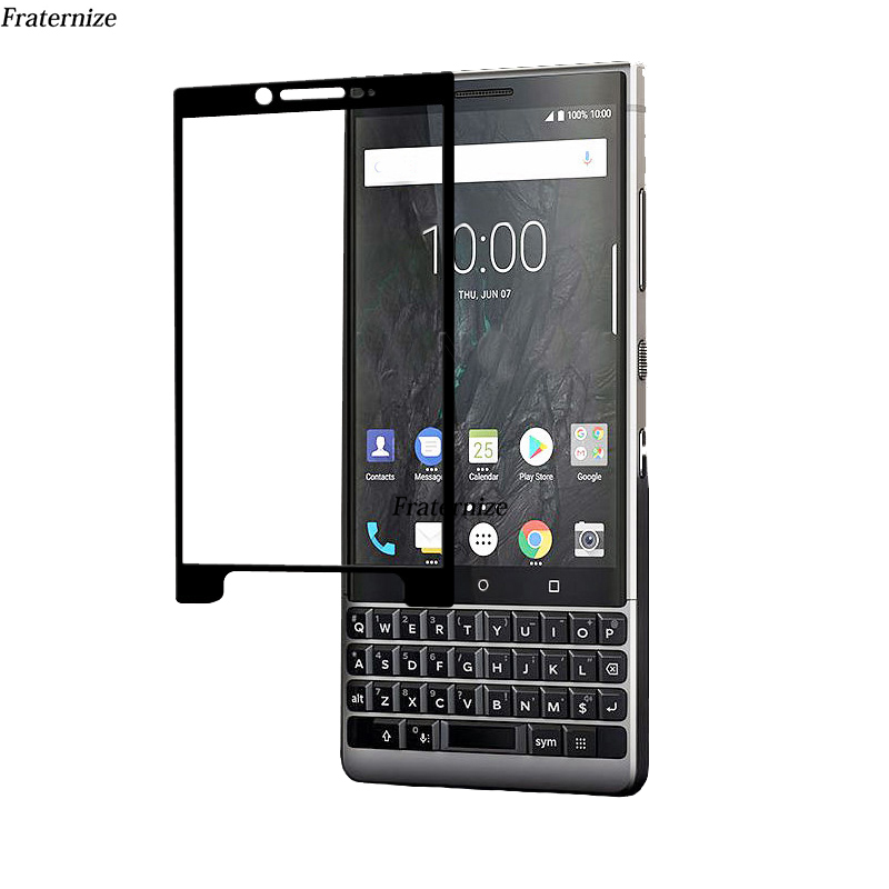 key2 Full Cover screen protector tempered glass Film For Blackberry key2 KeyTwo HD 9H protective Full Coverage glass Full Glue(China)