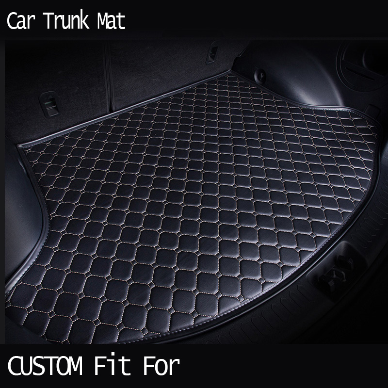 Custom fit car trunk mat for Cadillac ATS CTS XTS SRX SLS Escalade 3D car-styling all weather tray carpet cargo liner waterproof custom fit car trunk mat for cadillac ats cts xts srx sls escalade 3d car styling all weather tray carpet cargo liner waterproof