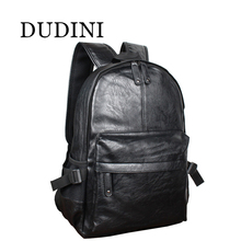 DUDINI Fashion Korean Style Men Backpack Top Quality Leather Double Shoulder Bags School Bag Book Rucksack Male Outstoor Tote