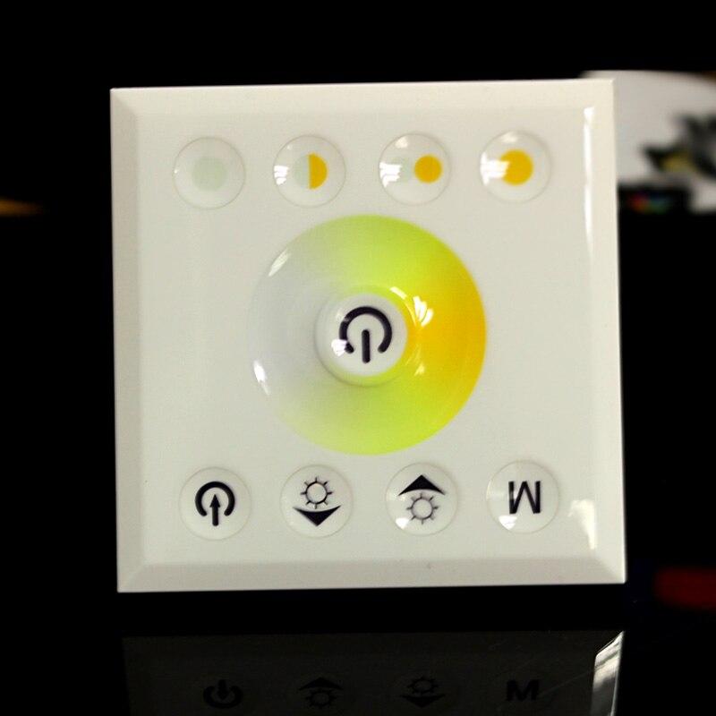 6 шт./лот DC 12 В 24 В Цвет Температура светодиодный сенсорный Панель контроллер трогательно привело диммер для Светодиодные полосы огни