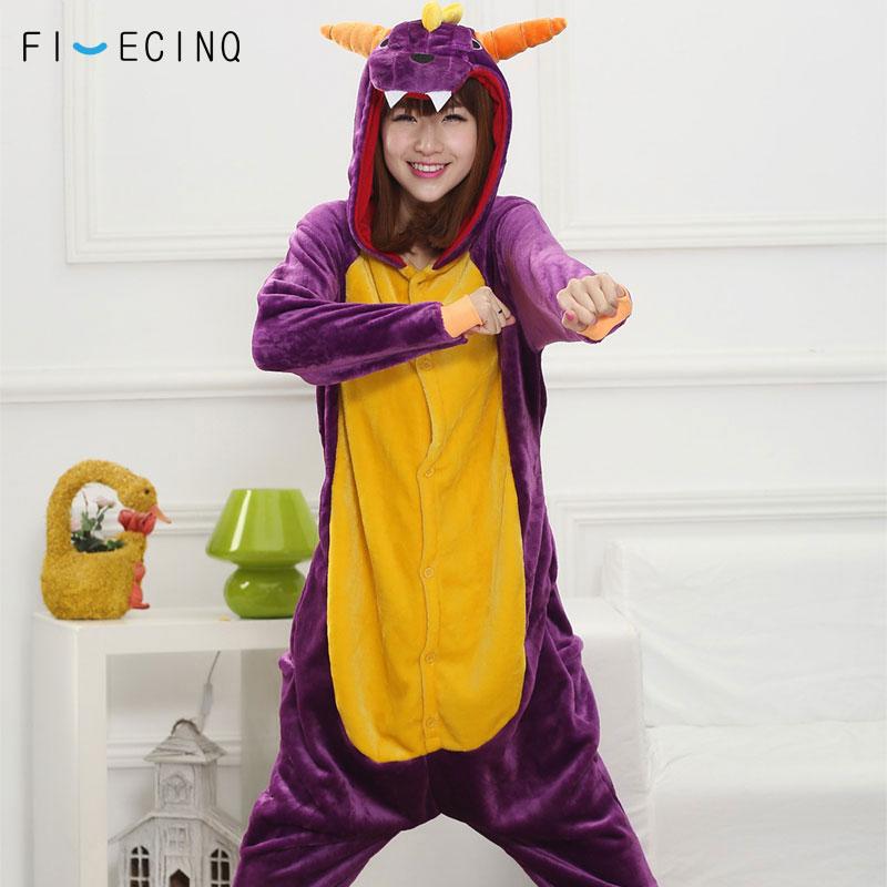 Фиолетовый дракон костюм с рисунком Пижама для животных забавные вечерние  Косплэй комбинезон Для мужчин Для женщин a2ceb3b51bea6