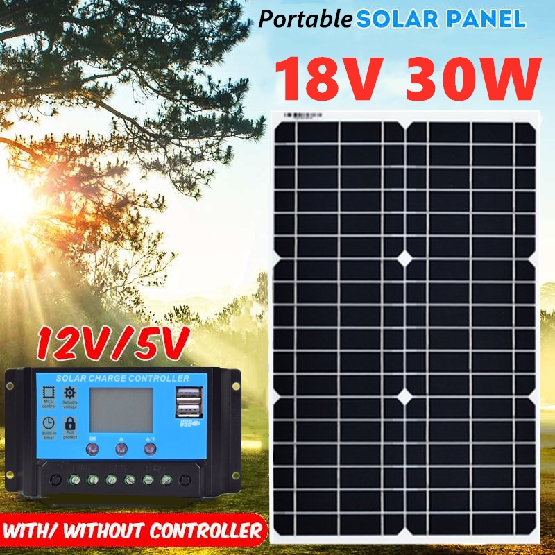 30W 18V Flexible Mono Solar Panel With 10A PWM Controller For 12V Battery Charger portable solar charger usb 5v solar panel30W 18V Flexible Mono Solar Panel With 10A PWM Controller For 12V Battery Charger portable solar charger usb 5v solar panel