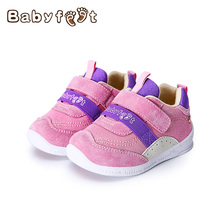 New Style Baby First Walkers Prewalker Genuine Leather Unisex Soft Bottom Flat Shoes Anti-slip Rubber For Babies Boys Girls