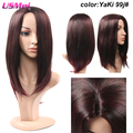 Brown Straight Omber Wigs Females Synthetic Long Hair Full Wig Natural Texture Heat Resistant Cheap African American Wigs