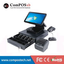 лучшая цена Cash Register Windows System Capacitive Touch Screen All in one 15.6 inch Pc Pos Terminal For Retail And Restaurant