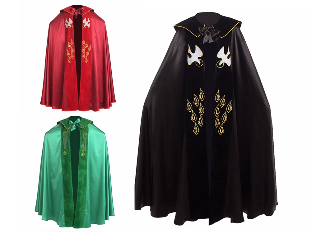 Red Green Black Catholic Church IHS Embroidery Holy Bishop Priest Cope Liturgical Vestment Cloak Cape